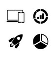 marketing seo simple related icons vector image