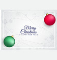 merry christmas colorful balls background vector image