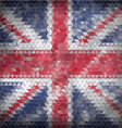 Mosaic British flag background - vector image