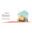 moving home concept background vector image vector image