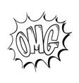 omg explosion comic style superhero lettering vector image