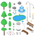 Park elements set vector image vector image