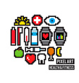 Pixel Health and Fitness vector image