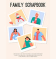 poster family scrapbook concept vector image