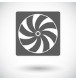 Radiator fan flat icon vector image vector image
