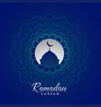 ramadan kareem islamic card design with mandala
