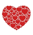 red hearts isolated vector image vector image