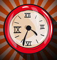 Retro Clock Flat Design Long Shadow vector image vector image