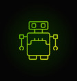 robot concept green icon in outline style vector image