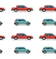 seamless pattern of red cars Limo sedans vector image vector image