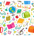 seamless pattern with school elements vector image