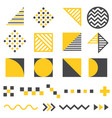 set modern abstract design elements vector image vector image