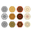 set of flower mandala vintage decorative elements vector image