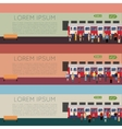 set subway train banners vector image