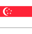 singaporean flag vector image vector image
