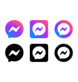 social media network messenger logos or icons vector image
