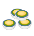 Stack of Thai Dessert of Layer Coconut Custard vector image vector image