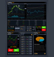 stock trading concept ui with analyze data vector image vector image