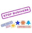 Stop Business Rubber Stamp vector image vector image