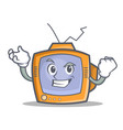 successful tv character cartoon object vector image vector image