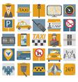 Taxi icon Flat design