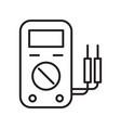 thin line voltage gage icon vector image vector image