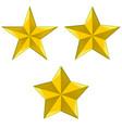 three types 5-pointed stars