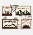 vintage postage stamps set vector image vector image