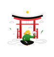 visit japan - colorful flat design style vector image vector image
