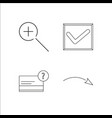 web simple linear icon setsimple outline icons vector image vector image