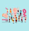 women rights feminism isometric vector image
