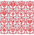 Love ornament seamless background in ethnic style vector image