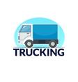 Trucking logo vector image