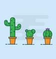 cactus flat design vector image
