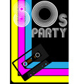 80s party poster vector image vector image