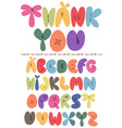 abc-balloons - colorful english letters vector image