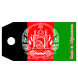 Afghanistan flag on price tag vector image