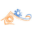 air conditioning house vector image vector image