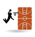 Basketballl design sport icon White background vector image