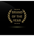 Brand of the year vector image