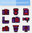 camera line color icon vector image