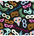 carnival rio colorful pattern masks design vector image vector image