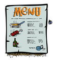 cartoon image of menu icon vector image