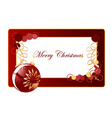 Christmas background blank vector image vector image