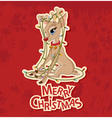 Christmas Reindeer Tangled in Garland vector image vector image