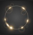 circle of light golden color vector image vector image