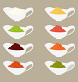 color set icons vector image vector image