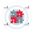 creative business infographics concept puzzle vector image vector image