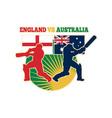 cricket batsman england australia vector image vector image