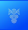 crispr dna editing icon linear vector image vector image